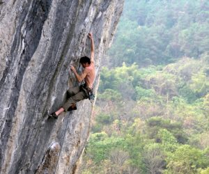 Climbing in China